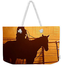 Weekender Tote Bag featuring the photograph A Long Day by Steven Reed