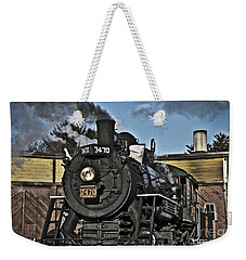 Weekender Tote Bag featuring the photograph A Long Haul by Alana Ranney