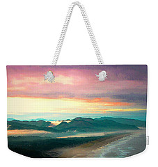 A Lovely Little Town On The North Pacific Coast Water Color Weekender Tote Bag by Joyce Dickens