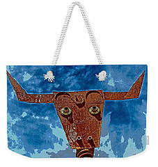 A Lucky Bull Weekender Tote Bag by Lynn Sprowl