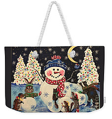 A Magical Night In The Snow Weekender Tote Bag