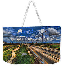 Weekender Tote Bag featuring the photograph a majestic springtime in Israel by Ron Shoshani