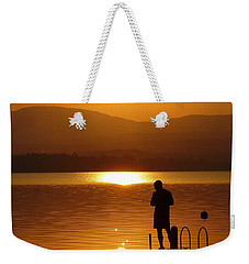 Weekender Tote Bag featuring the photograph A Man And His Thoughts  by Mike Ste Marie