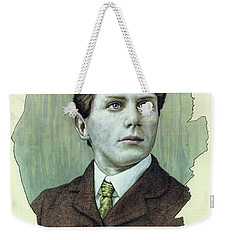 Weekender Tote Bag featuring the painting A Man Who Used To Be A Dreamer by James W Johnson