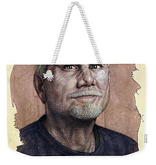Weekender Tote Bag featuring the painting A Man Who Used To Be A Serious Artist by James W Johnson