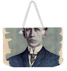 Weekender Tote Bag featuring the painting A Man Who Used To Be Somebody To Someone by James W Johnson