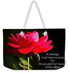 A Marriage Weekender Tote Bag