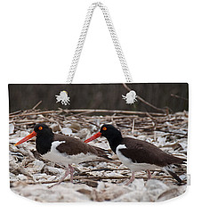 A Mated Pair Of Oyster Catchers Weekender Tote Bag