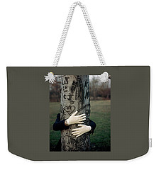 A Model Hugging A Tree Weekender Tote Bag