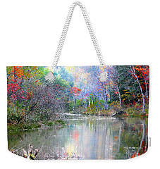 A Monet Autumn Weekender Tote Bag by Mariarosa Rockefeller