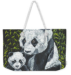 Weekender Tote Bag featuring the painting A Mothers Devotion by Carol Wisniewski
