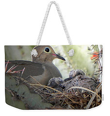 Weekender Tote Bag featuring the photograph A Mothers' Love by Deb Halloran