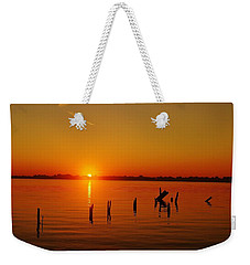 A New Day Dawns... Over Dock Remains Weekender Tote Bag by Daniel Thompson