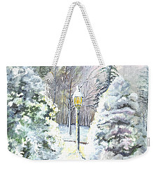 A Warm Winter Greeting Weekender Tote Bag