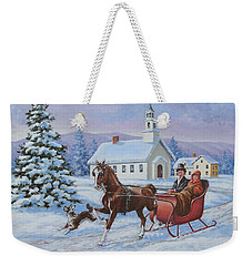 A One Horse Open Sleigh Weekender Tote Bag