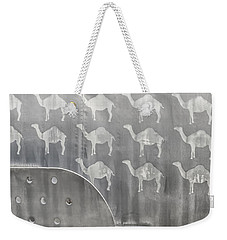 A Pack Of Camels Weekender Tote Bag by Gary Warnimont