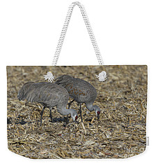 A Pair Of Sandhill Cranes Weekender Tote Bag