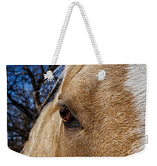 A Palomino's Eye. Weekender Tote Bag