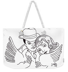 A Peaceful Gathering Weekender Tote Bag by John Keaton