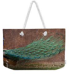 A Peacock Weekender Tote Bag