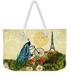 A Peacock In Paris Weekender Tote Bag