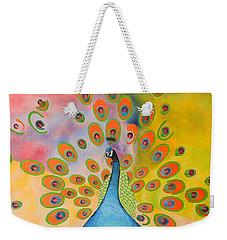A Peculiar Peacock Weekender Tote Bag