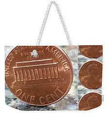 Weekender Tote Bag featuring the photograph A Penny For Your Thoughts by Emmy Marie Vickers