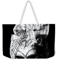 A Picture Of A Venitian Mask Accompanied By An Oscar Wilde Quote Weekender Tote Bag