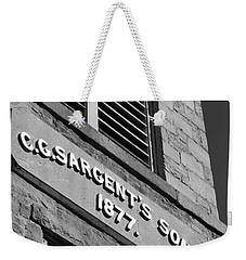 A Piece Of History Weekender Tote Bag by Barbara Bardzik