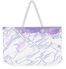 A Piece Of The Alaskan Range Weekender Tote Bag by Heather  Hiland