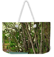 Weekender Tote Bag featuring the photograph A Place To Sit by Rodney Lee Williams