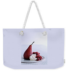A Poached Pear With Cream Weekender Tote Bag