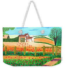 A Poppy Field Weekender Tote Bag
