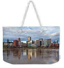 A Portland Morning Weekender Tote Bag by Patricia Davidson