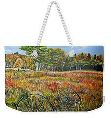 Weekender Tote Bag featuring the painting A Prairie Treasure by Marilyn  McNish