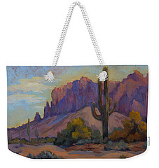 A Proud Saguaro At Superstition Mountain Weekender Tote Bag