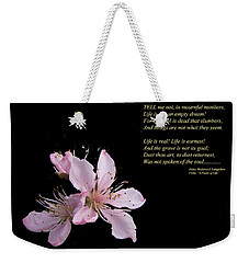 A Psalm Of Life Weekender Tote Bag