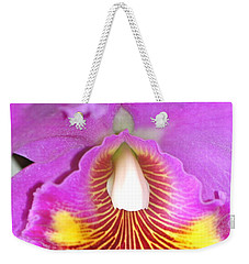 A Purple Cattelaya  Orchid Weekender Tote Bag by Lehua Pekelo-Stearns
