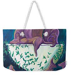 A Rather Elegant Cat Party Weekender Tote Bag