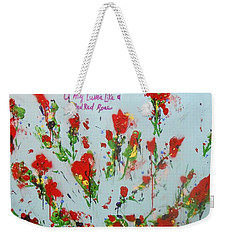 A Red Red Rose Weekender Tote Bag