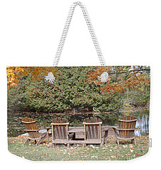 Weekender Tote Bag featuring the photograph Relax For A Moment  by Brenda Brown