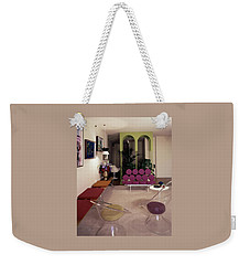 A Retro Living Room Weekender Tote Bag