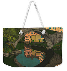 Weekender Tote Bag featuring the drawing A River by Meg Shearer