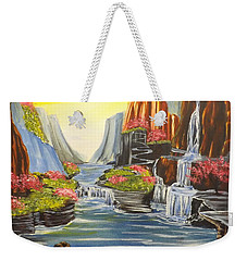 A River Runs Through It Weekender Tote Bag by Darren Robinson