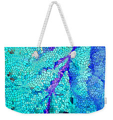 Weekender Tote Bag featuring the digital art A River Runs Through It by Mariarosa Rockefeller