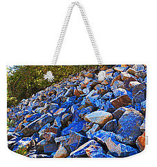 Weekender Tote Bag featuring the photograph A Rocky Hill by Naomi Burgess