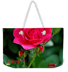 A Rose For Valentine's Day Weekender Tote Bag by Mariarosa Rockefeller