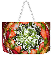 A Round Of Fresh Fruit Salad Weekender Tote Bag by Anne Gilbert