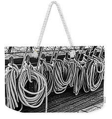 A Row Of Circular Lines Weekender Tote Bag by Marianne Campolongo