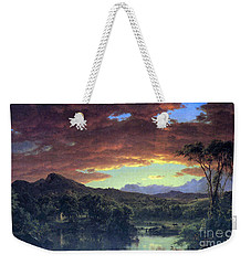 A Rural Home By Frederick Edwin Church Weekender Tote Bag